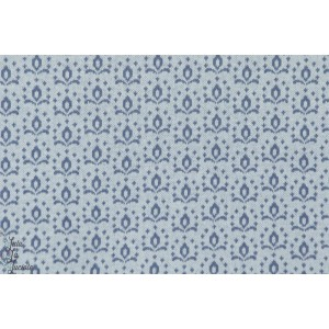 Tissu bio Jacquard Wild Rose Bleu Kombi lillestoff couture femme