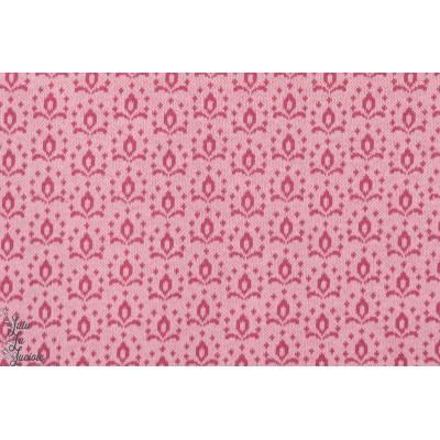 tissu coton bio couture femme Jacquard Wild Rose Redwine Kombi lillestof