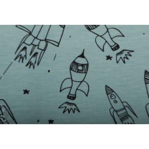 Jersey bio Rockets Dusty mint Elvelvelyckan Design fusée espace