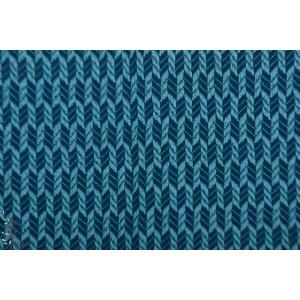 jacquard Bio ALB Wanderlust grain knit bleu Hamburger Liebe