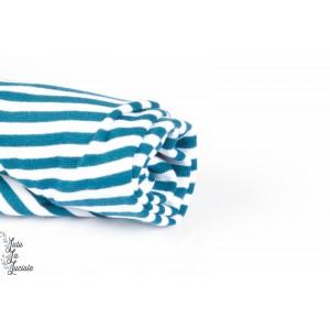 BORD COTE bio rayé Blanc/Bleu lillestoff