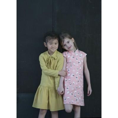 Patron couture enfant fille Robe Laure en Anglais Straightgrain