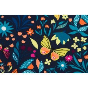 Sweat Fleurs et papillons