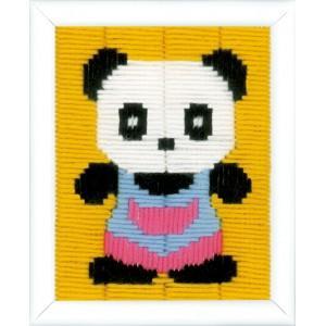 Kit au point Lancé Panda canevas enfant