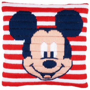 KIT Coussin Point Lancé Mickey canevas enfant