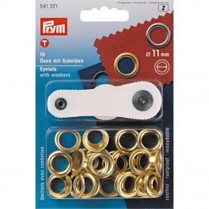 Œillets et rondelles, 11,0mm, doré PRYM 541371