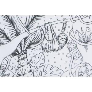 jersey Bio Dschungel Ausmalbild Lilestoff susalabim jungle coloriage