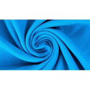 Jersey Uni Bio Aqua Lillestoff bleu