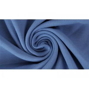 Jersey Uni Bio Jeansblau Lillestoff bleu jean
