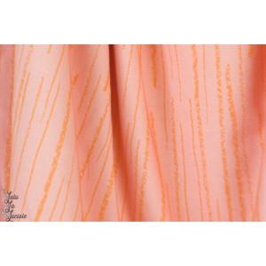 Längsstreifen, rosagelb, Jersey lillestoff susalabim graphique rayure