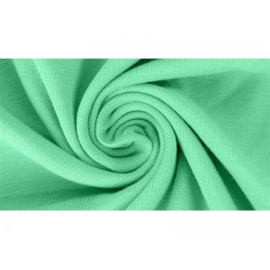 jersey Bio uni Lillestoff Grûn vert