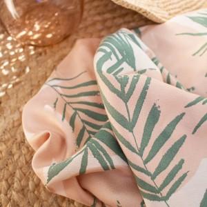 Crêpe de Viscose Atelier Brunette  Canopy Cactus vegetal mode femme graphique
