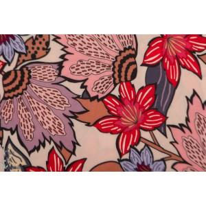 Viscose Soft Pink Flower Atelier Jupe
