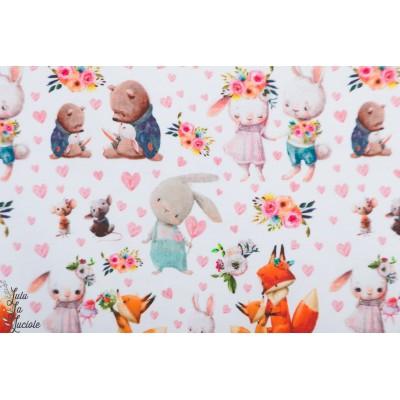 jersey bio Gosan By Ernest animaux enfant layette bébé lapin renard