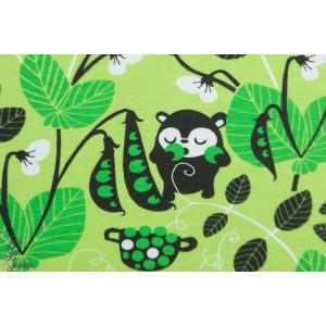 jersey Biio Paapii Peas apple Green animaux enfant layette petit pois