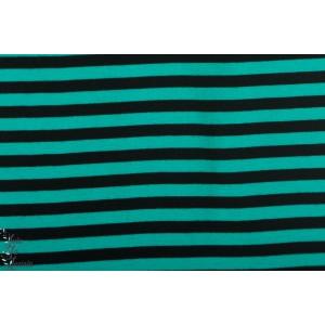 Bord Cote Bio  Rayé turquoise noir Paapii