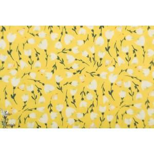 Popeline AGF Discovered Sunshine Aheas - Open road fleur soleil jaune papillon
