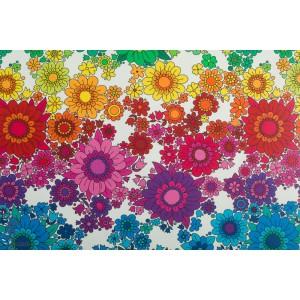 Jersey White Rainbow Blossom Vintage in my heart fleur arc en ciel