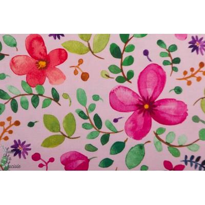Popeline Brillant Blossom Pink Michael Miller - Zen Garden Rose