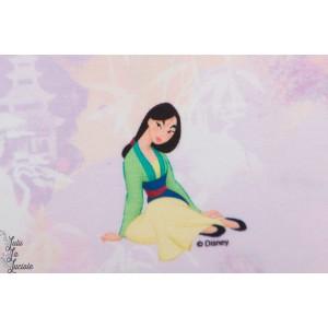 Jersey Mulan fond  rose princesse disney licence