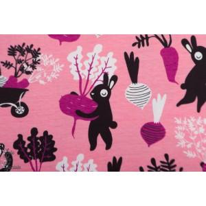 Jersey bio Paapii Harvest dance pink jardin layette rose petit lapin