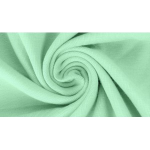 Jersey bio uni Minze Lillestoff vert menthe