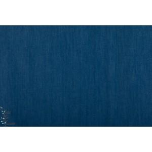 Jeansoptik denin jeanblau dunkel Lillestoff