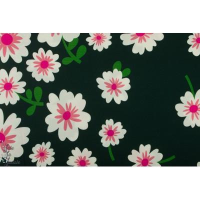 Jersey Tencel Bloom Hello vert ALB fleur vert