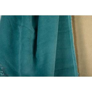Velours bleu doublé teddybleu petrole manteau chaud hiver