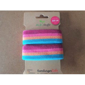 Stripe me Plain Stiches Bio  Rose