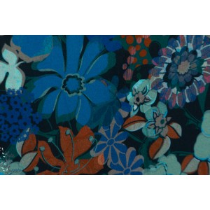 Viscose Carla - fleurs aux couleurs de l'automne