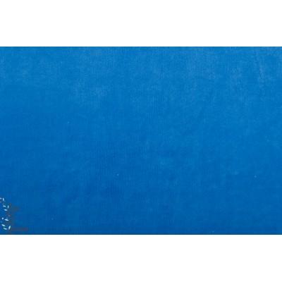 Velours Hilco Minly ras bleu clair