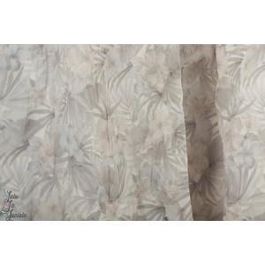 voile texturé fleur de sel gris  Hibiscus Kokka