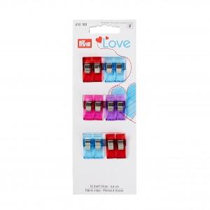 Love Pince à tissus 2.6cm 12 Pièces Prym Love 610180