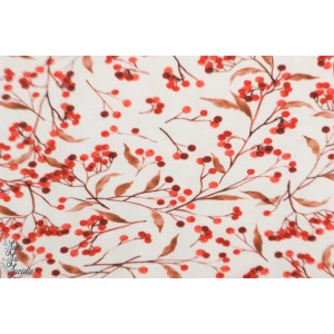 Jersey Berries Family fabric vegetal