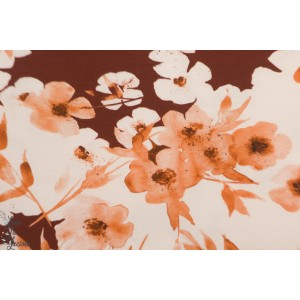 jersey Wild Flowers Family Fabrics fleur nature pré sauvage