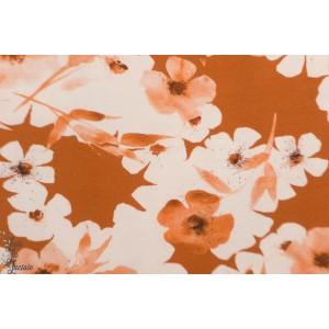 jersey Watercolor Roasted Pecan Jersey Family Fabrics