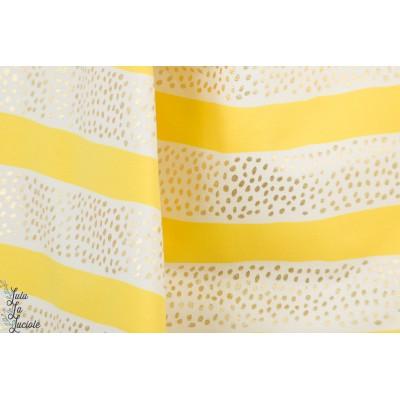 Sweat About Golden Rain rayure jaune or