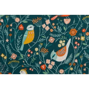 Popeline Dashwood Aviary 1723 oiseau fleur bethan janine