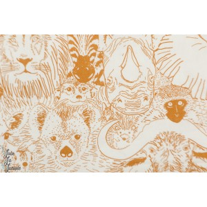 Popeline Bio Wild things  Gold From Grasslands by Sarah Watson Cloud8