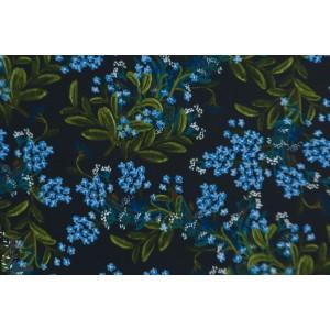 Viscose Cornflower cotton steel bleu