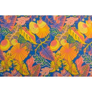 Popeline Bio Daintree Rouge Orange -Around Oz-  Nerida Hansen