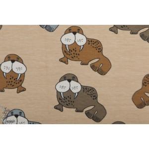 Sweat bio Elvelyckan Design Walrus Cappucino