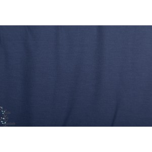 Modalsweat Uni Jeansblau dunkel Lillestoff