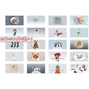 Panneau Masque Weihnachtsmasken 4 Lillestoff noêl