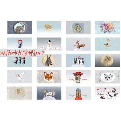 Panneau Masque Weihnachtsmasken 4 Lillestoff noêl Lillestoff