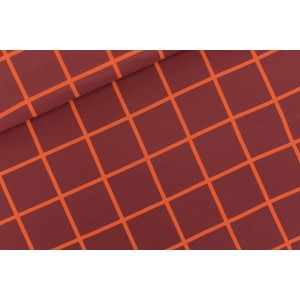 French Terry SYAS  Grid XL Bordeaux R