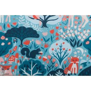 Popeline Bio Twilit Forest from Modern Love By Monaluna Fabrics