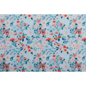 Popeline Bio Woodland Floral Dawn  from Modern Love By Monaluna Fabrics