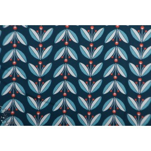 Popeline Bio Li,gonberries  from Modern Love By Monaluna Fabrics